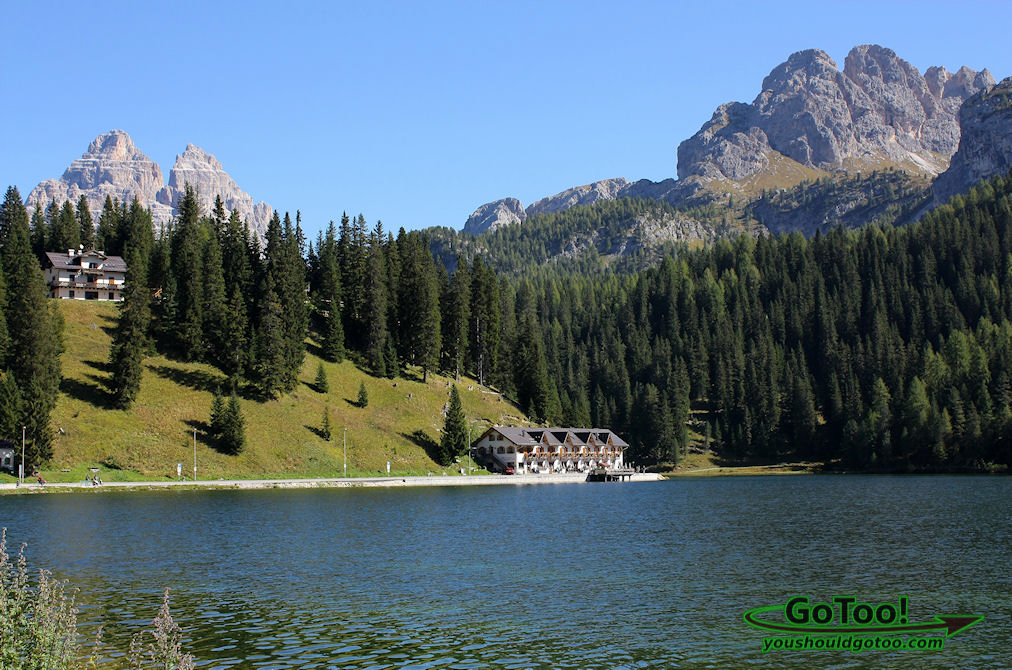After driving the Cime Panoramic Road we stopped at this lake