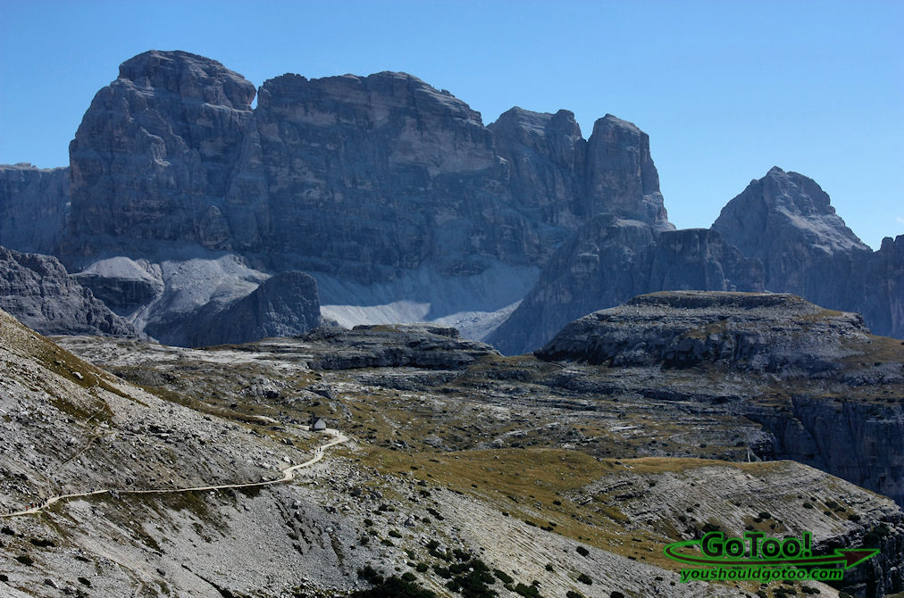 Hiking trails through the Dolomites