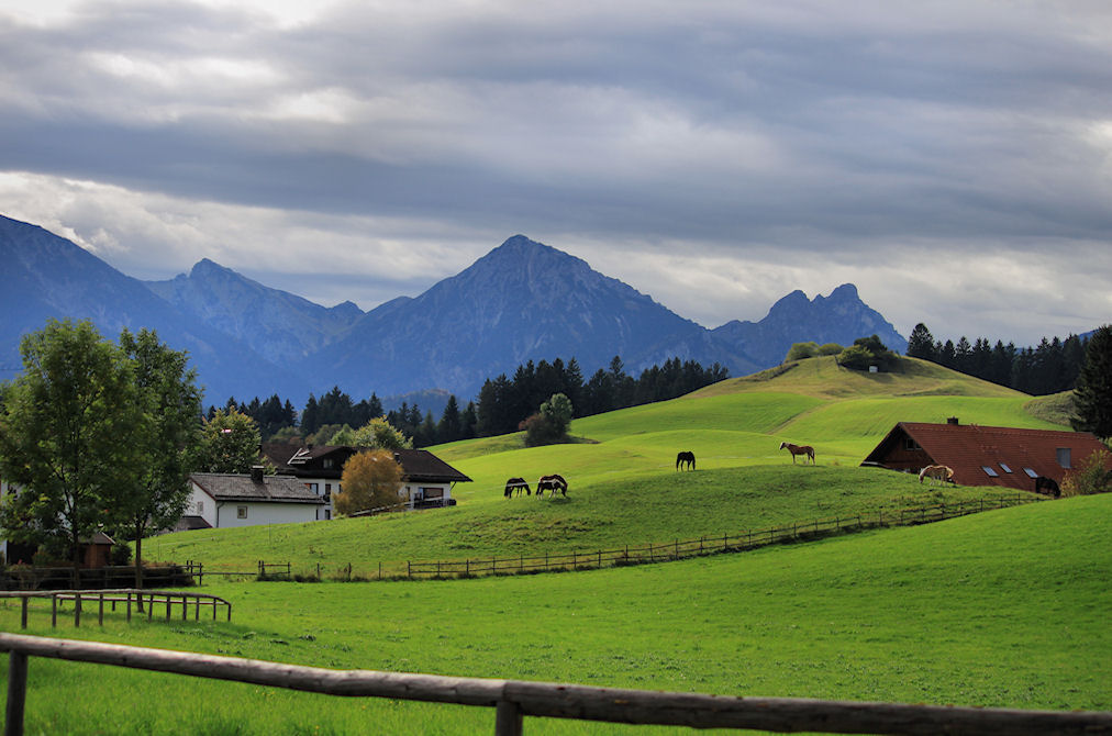 Bavarian countyside in Germany