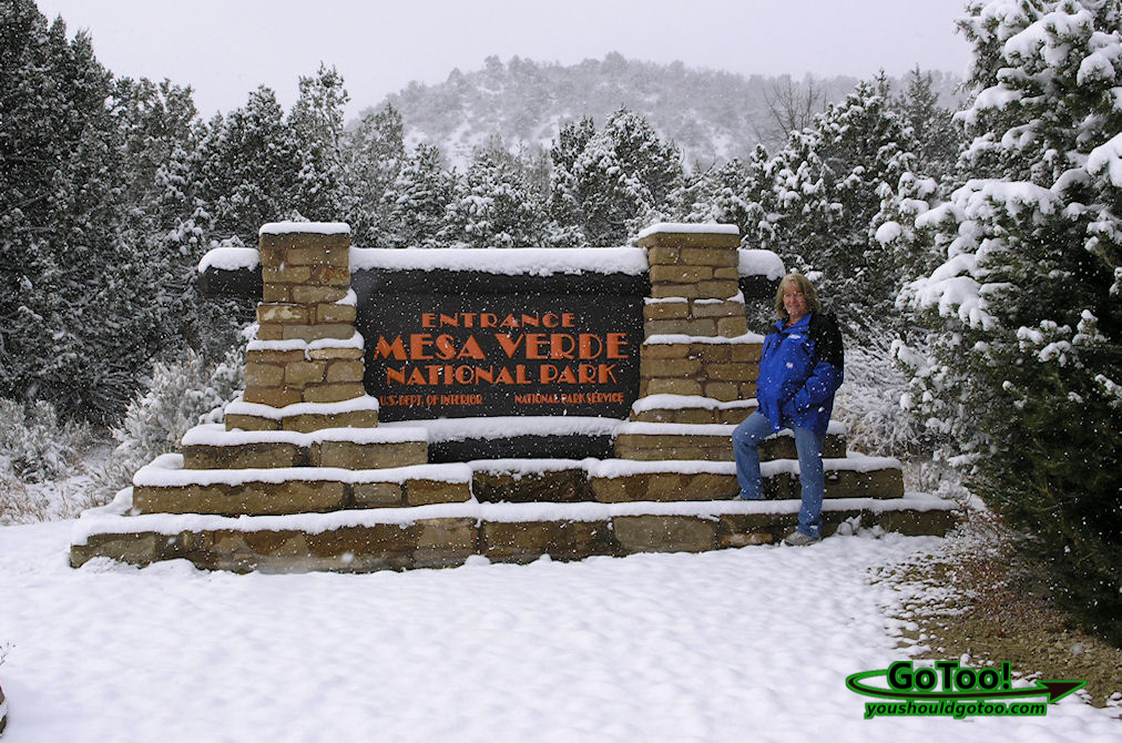 Next morning Mesa Verde is covered in snow