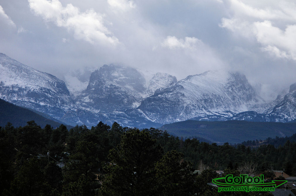 Snowing in Rocky Mountain National Park