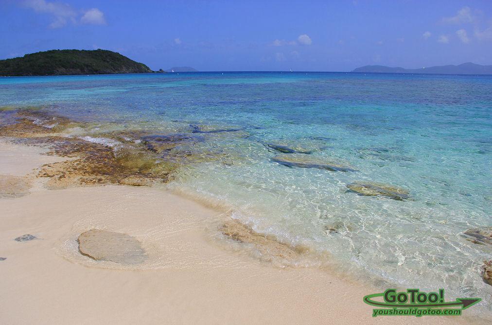 Hawksnest Beach offers great snorkeling in crystal clear water