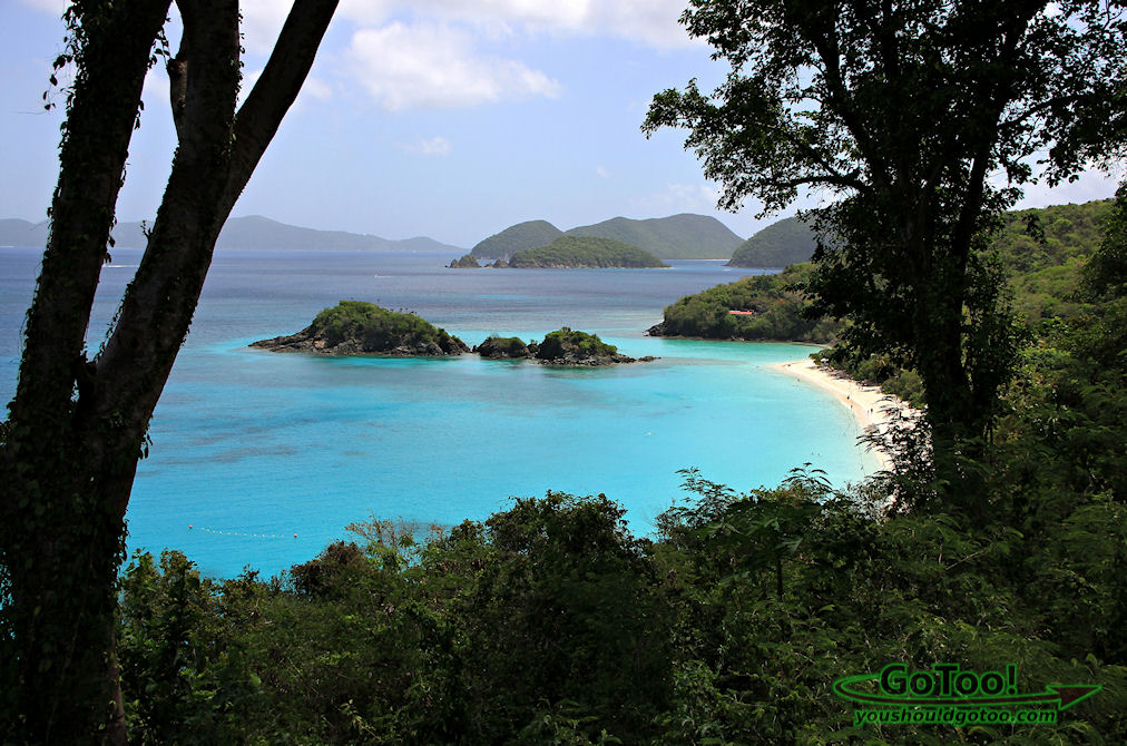 Trunk Bay overlook on St John, Virgin Islands