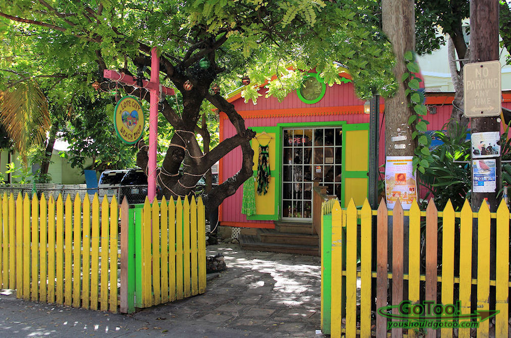 Colorful shop in Cruz Bay, St John US Virgin Islands