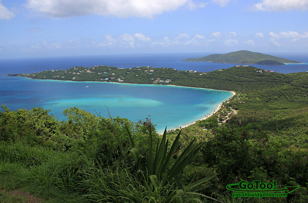 Magens Bay Overlook from Drakes Seat St Thomas USVI