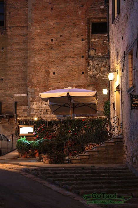 Montepulciano italy Cafe in the Evening