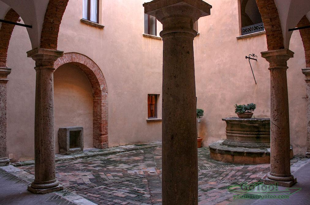Palazzo Bellarmino Courtyard Montepulciano Tuscany