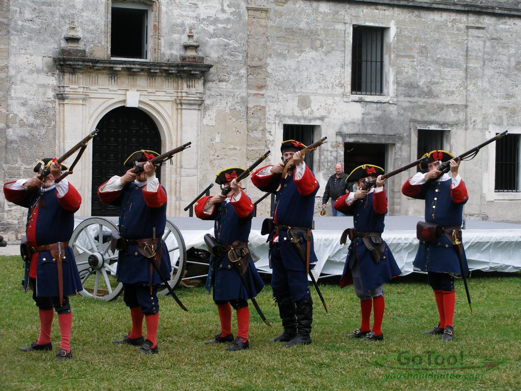 Soldier Reenactment St Augustine Florida