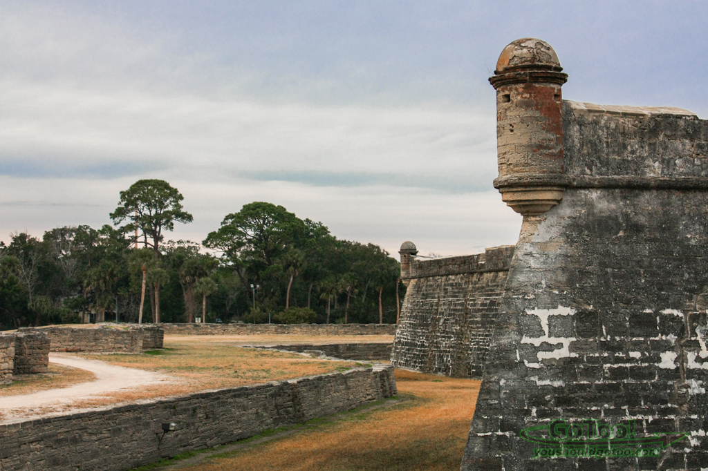 Walls of Castillo de San Marcos St Augustine Florida