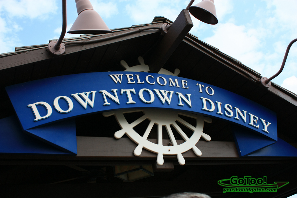 Downtown Disney Welcome Sign