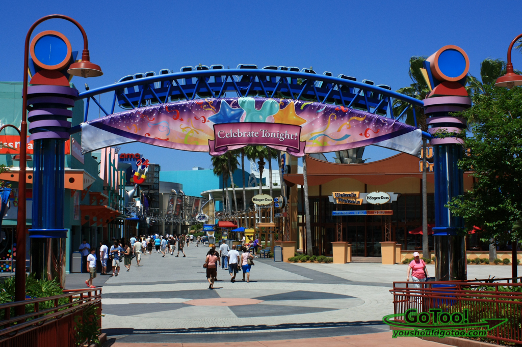 View of Shops in Downtown Disney in Lake Buena Vista Florida