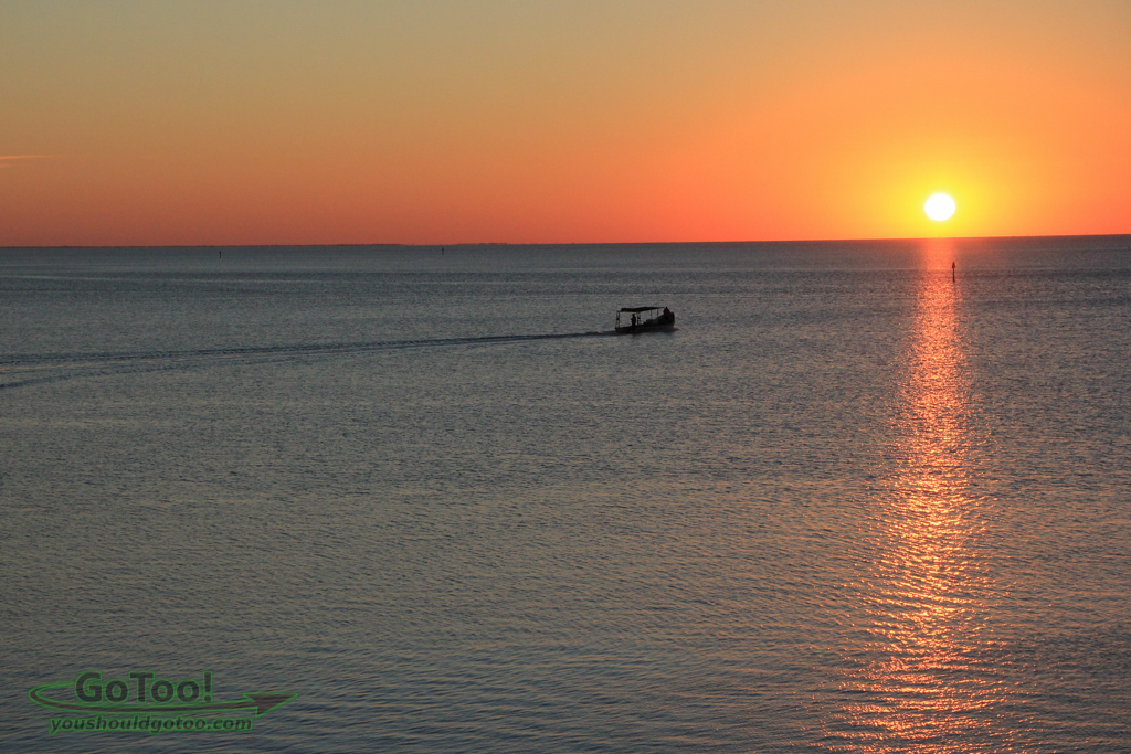 Sunrise and Fishing Boat Cedar Key