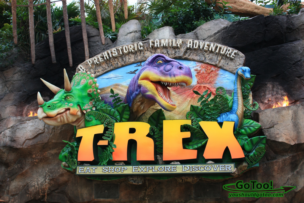 Sign at the T-REX Restaurant at Downtown Disney