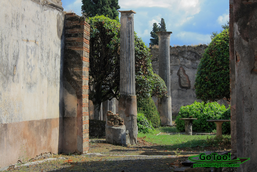 Courtyard in Pompeii