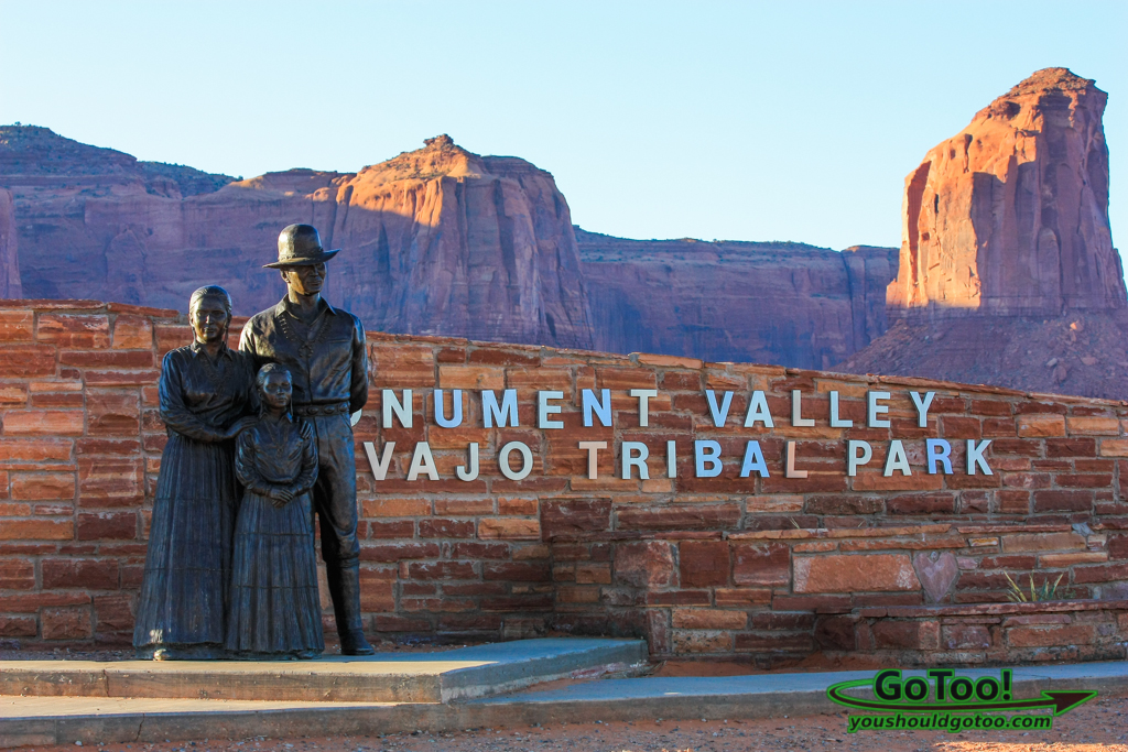 Entrance to Monument Valley Navajo Tribal Park