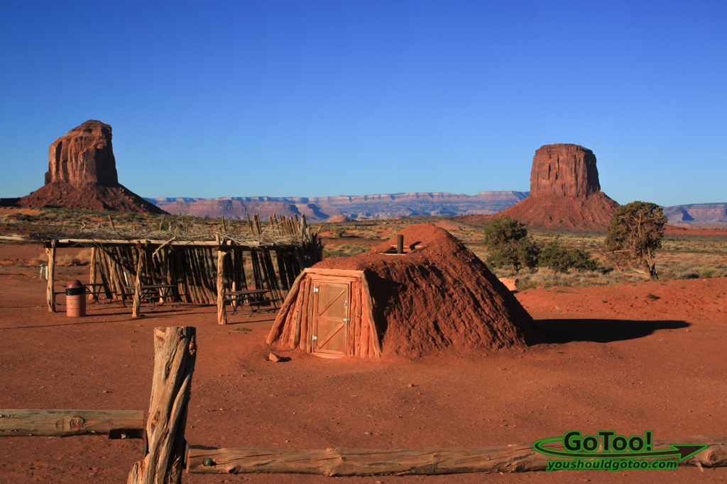 Navajo Hogan in Monument Valley