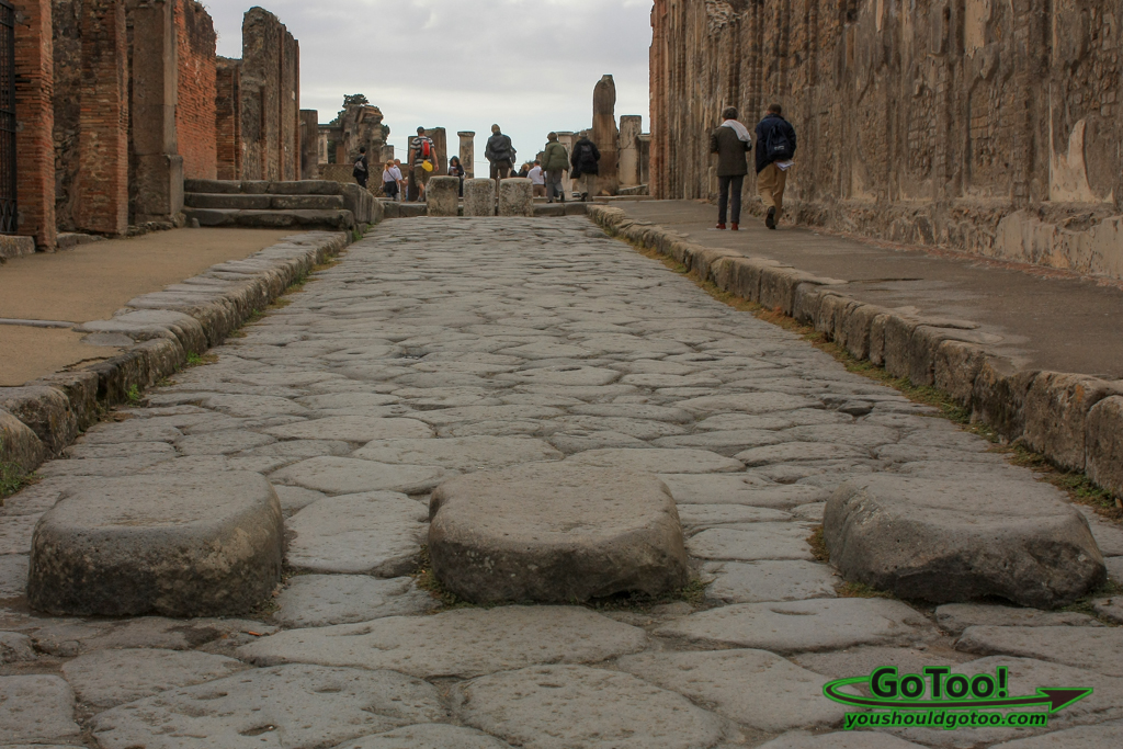 Paved Street in Pompeii
