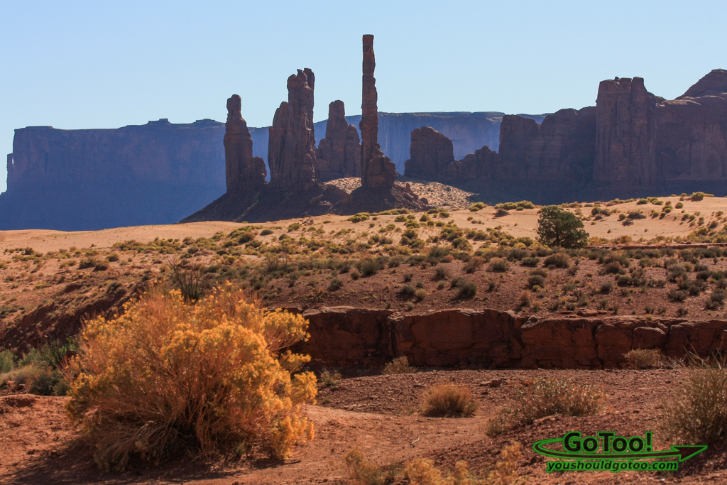 Spires and Buttes in Monument Valley