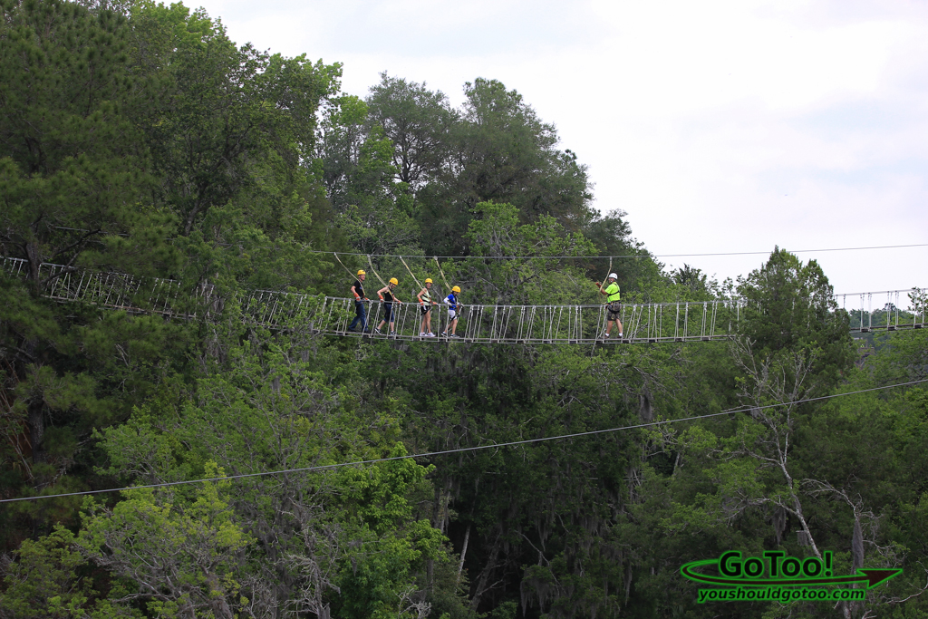 Suspension Bridge at The Canyons Ocala Florida
