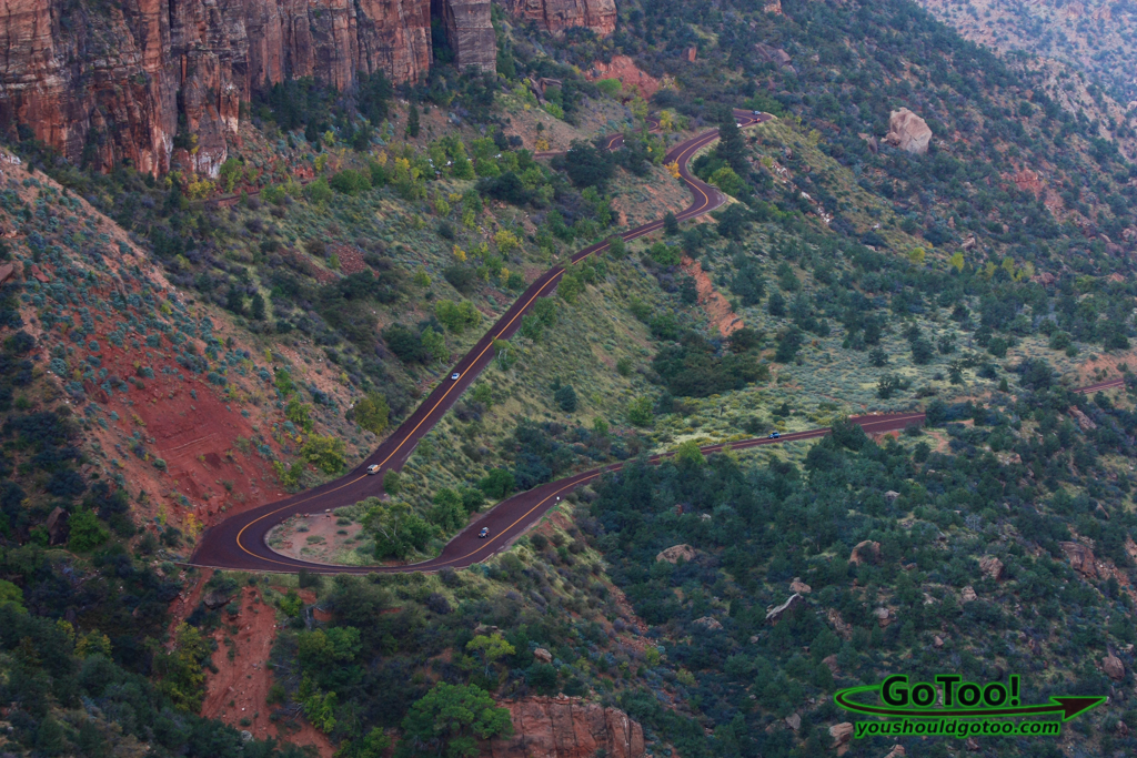 View of Switchbacks in Zion