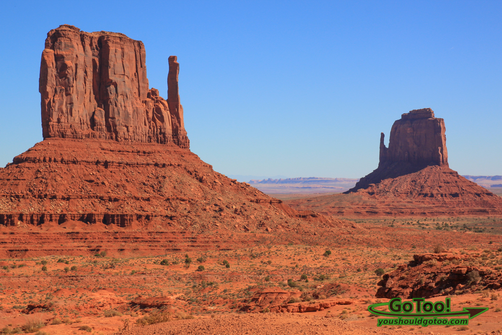 The Left and Right Mittens Monument Valley