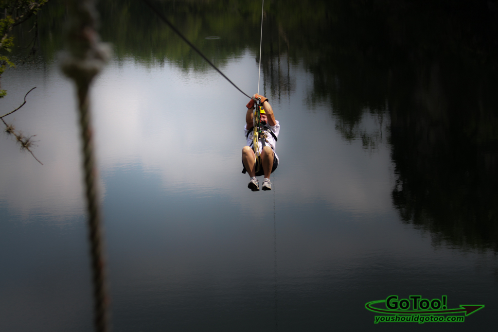 Ziplining Over 1000 Feet Across Canyon Florida