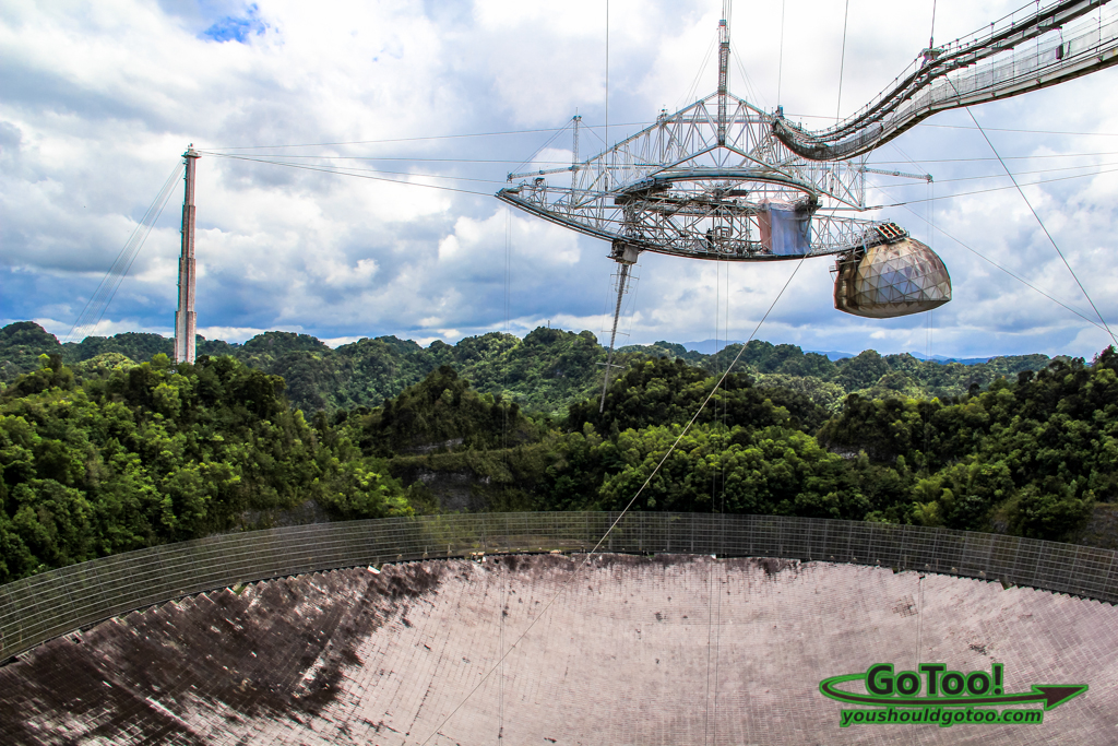 Arecibo Observatory Support Towers