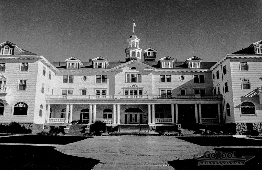 Front of Haunted  Stanley Hotel Estes Park Co