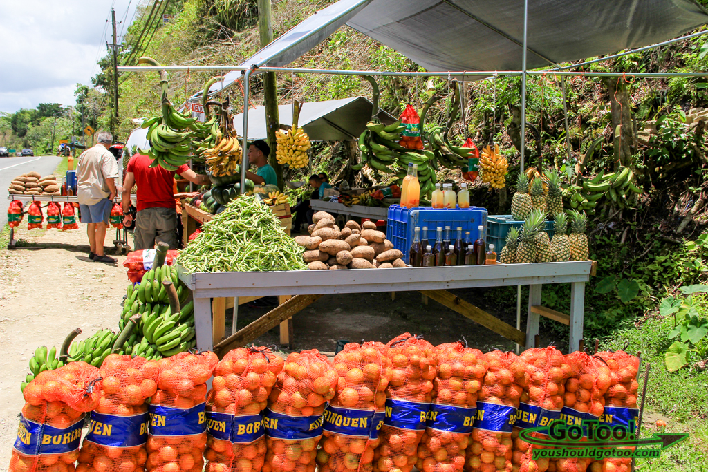 Colorful Produce Stand in Arecibo