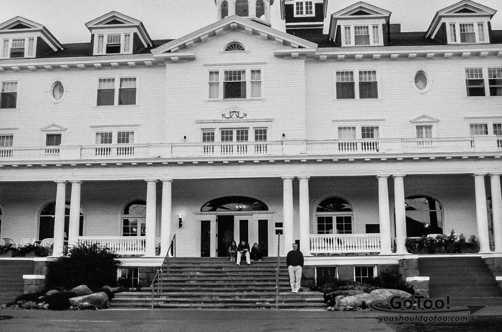 Stanley Hotel Front Entrance Where Dumb and Dumber was Filmed
