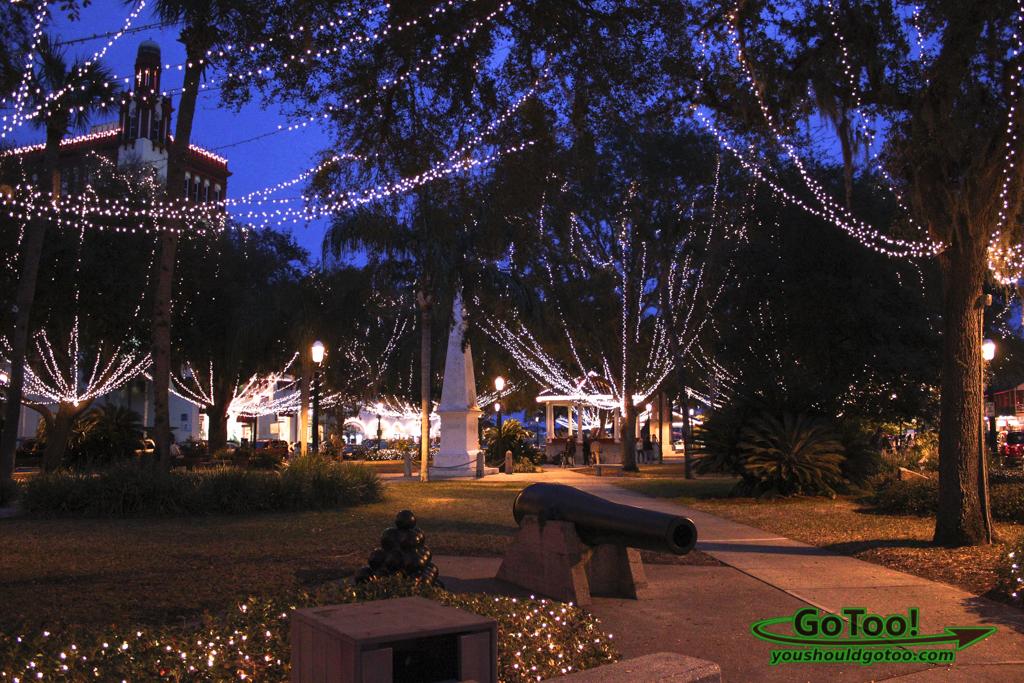 Plaza de la Constitucion St Augustine FL Nights of Lights