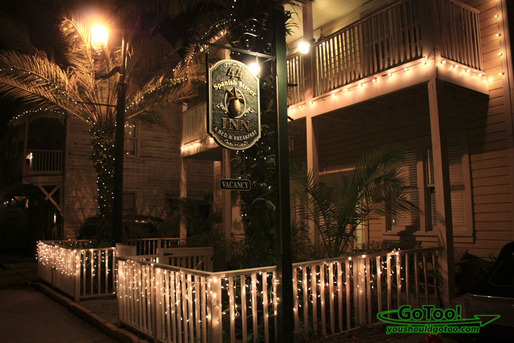 St Augustine Historic District Bed Breakfast Nights of Lights