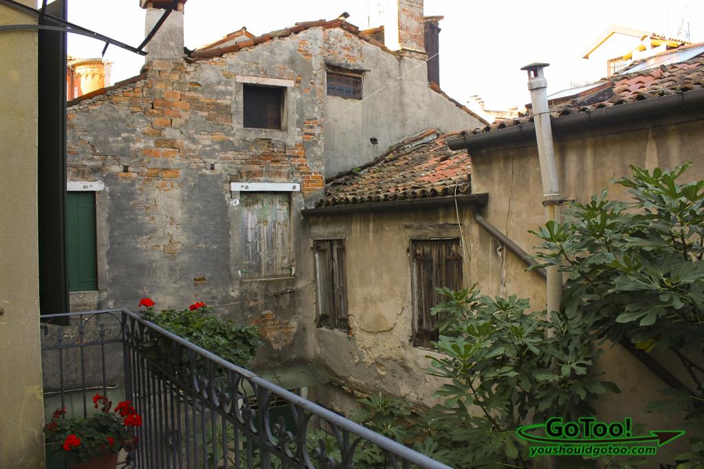 Balcony View Hotel Apostoli Palace Venice Italy