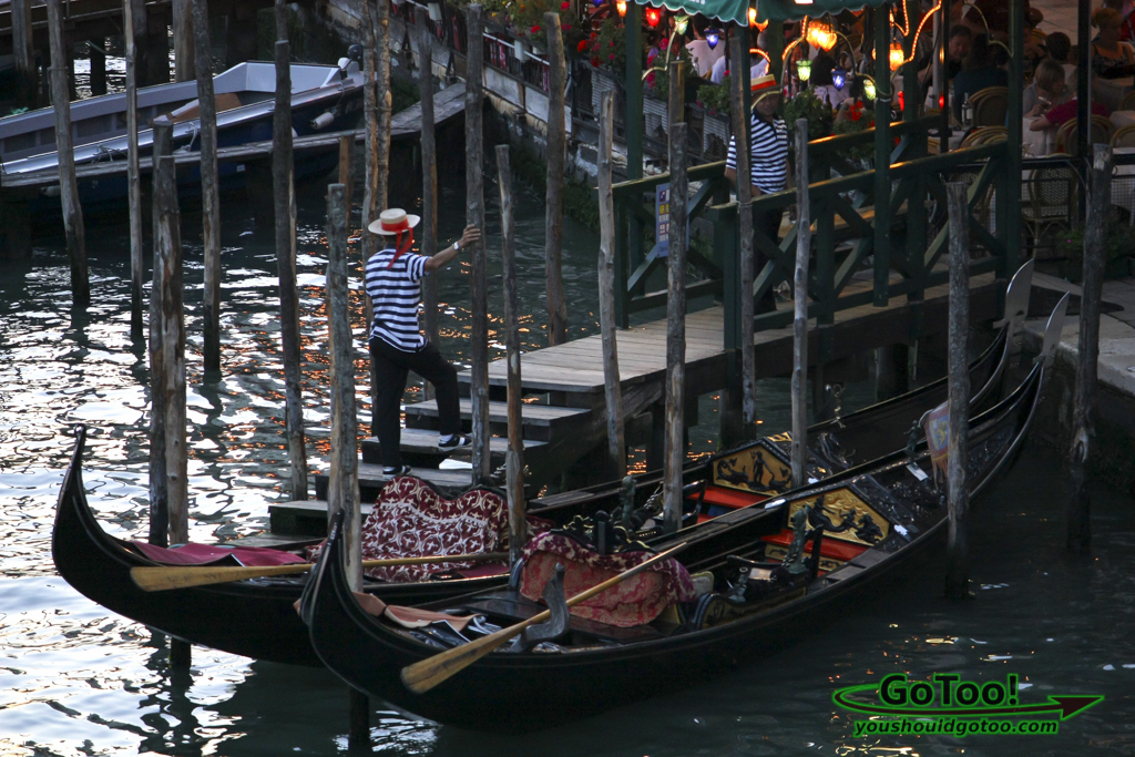 Gondolier Gondola Sunset Grand Canal Venice Italy