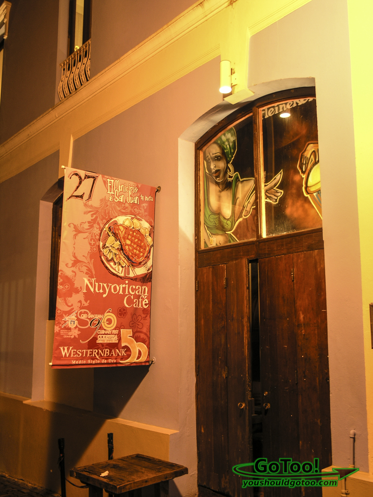 Nuyorican Cafe Entrance Old San Juan PR
