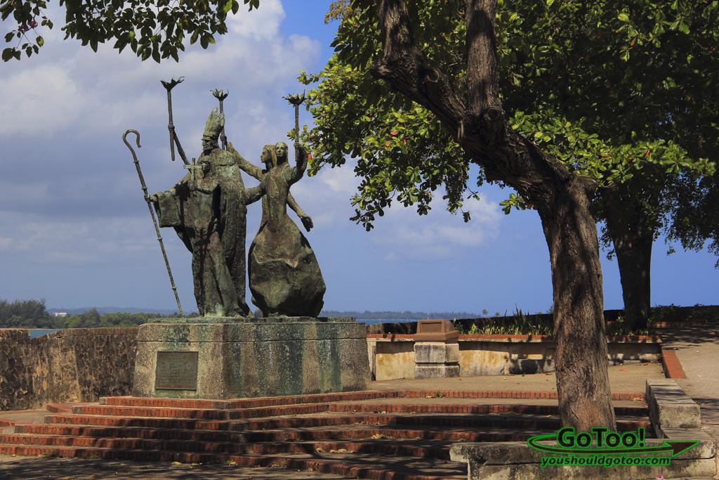Plazuela de la Rogativa sculpture Old San Juan PR