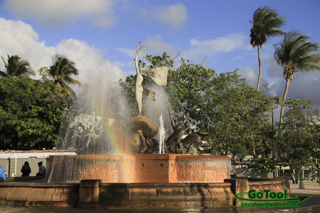 Raices sculpture fountain Paseo de la Princesa PR