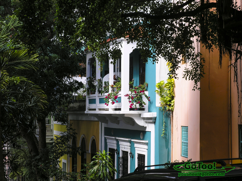 Tropical colors Old San Juan PR