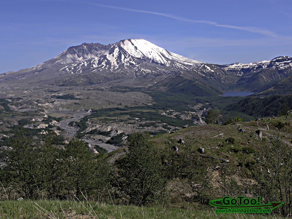 Mt St Helens Castle Lake North Fork Toutle River Valley View