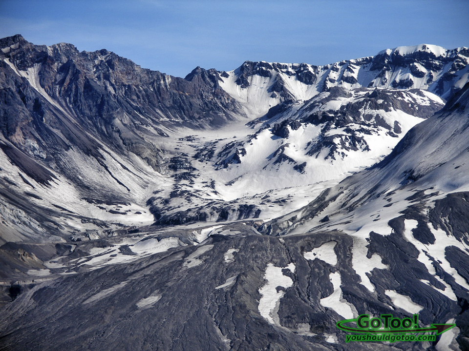 Mt St Helens Crater View From Johnston Ridge Observatory