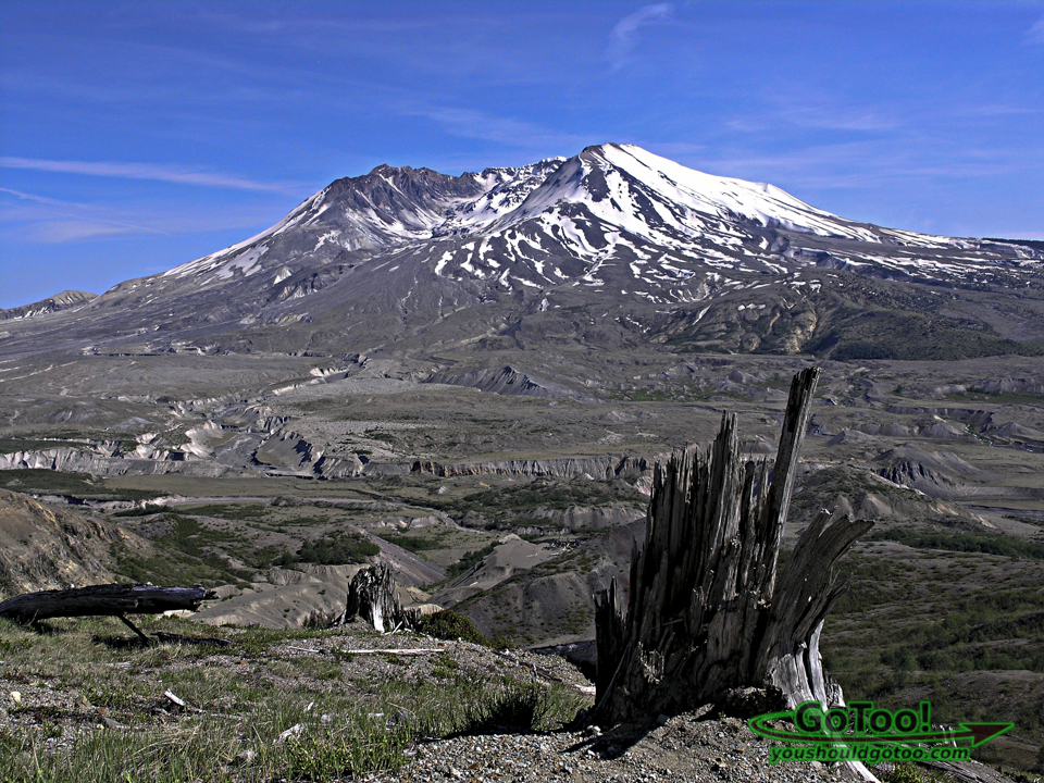 Mt St Helens Crater View and Devastated Landscape