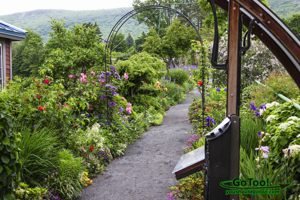 Colorful Pathway on the Bridge of Flowers
