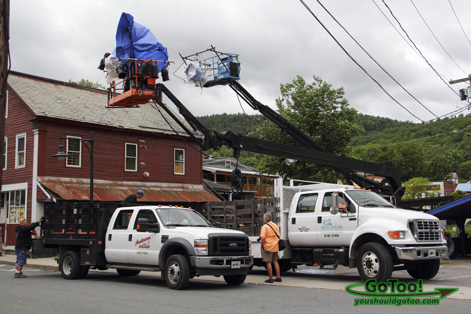 Filming The Judge in Shelburne Falls