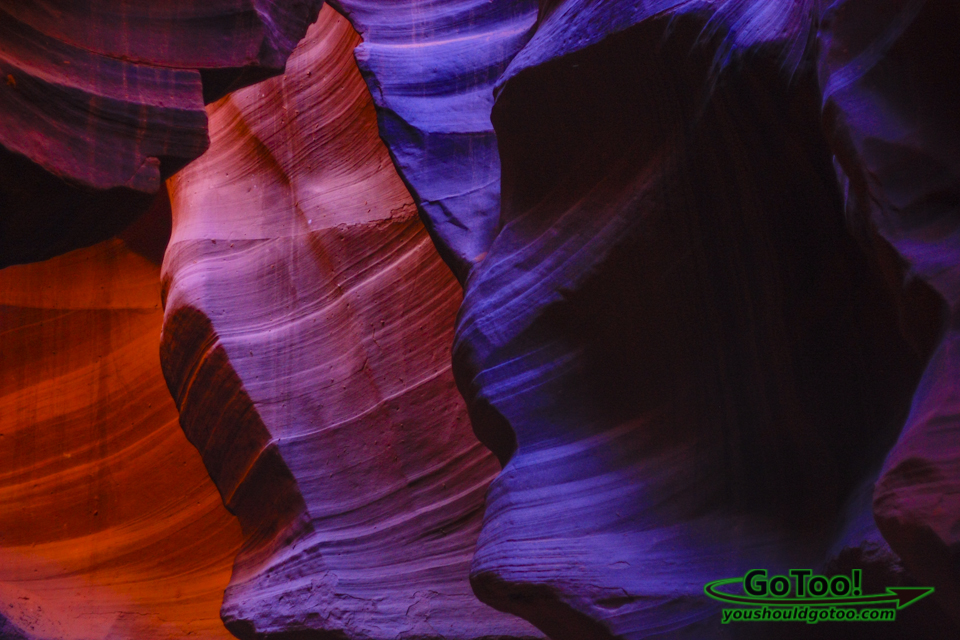 Antelope Canon Colorful Sandstone Shapes