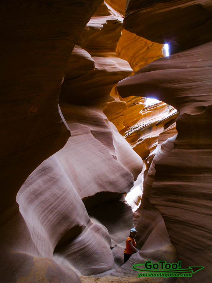 Antelope Canyon Walls Rise High Above You