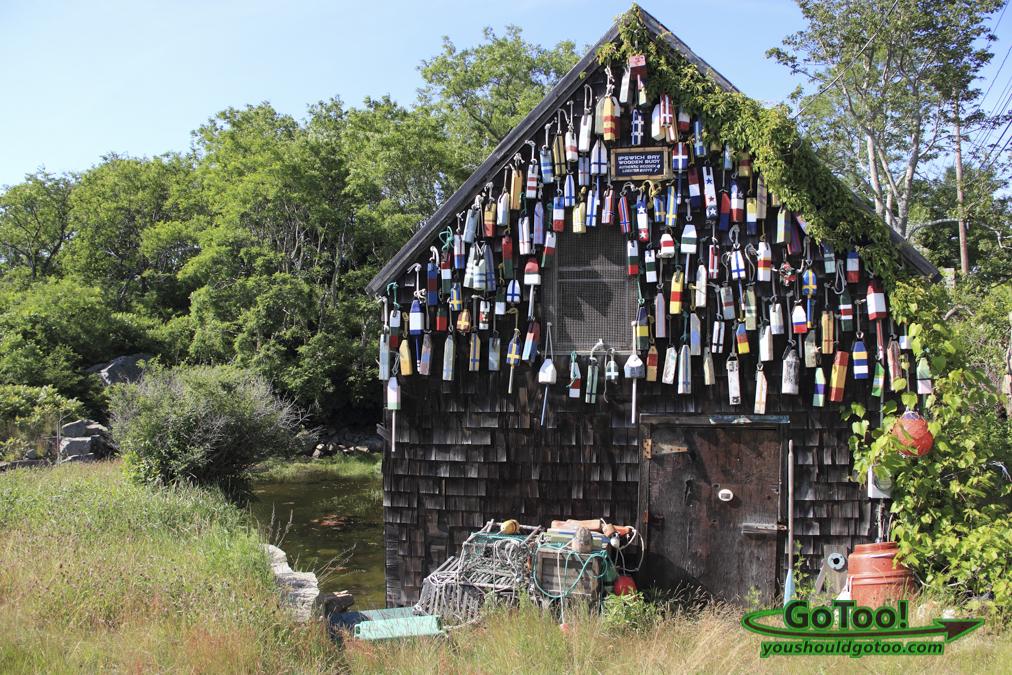 Boathouse with Buoys MA
