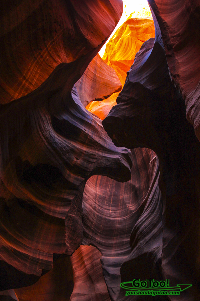 Carved Sandstone in Antelope Canyon