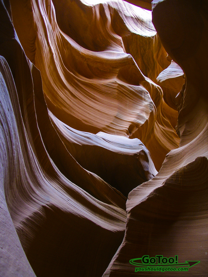 Colorful Canyon Walls Lower Antelope Canyon