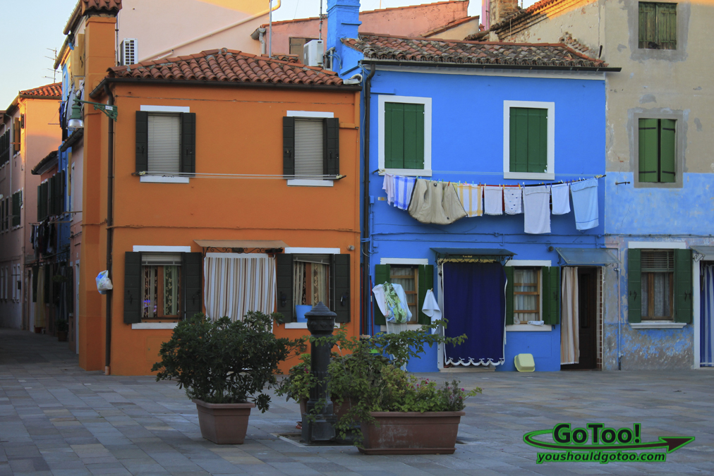 Colorful Homes in Burano Italy