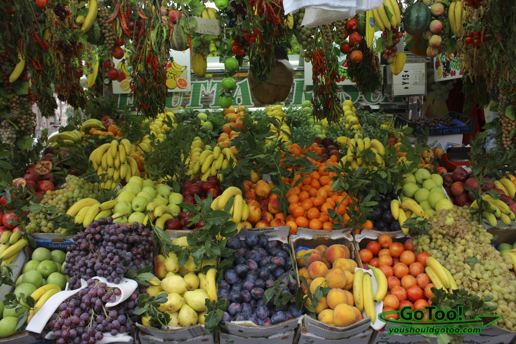 Fruit Stand in Rome Italy